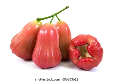 Rose apples or chomphu isolated on white background.Rose apples isolated