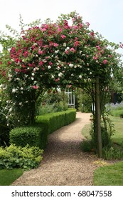 Rose Arch in English Country Garden