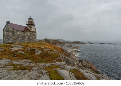 Rose Blanche, Newfoundland and Labrador - 29 September 2019: the historic stone lighthouse of Rose Blanche, on the south coast of Newfoundland