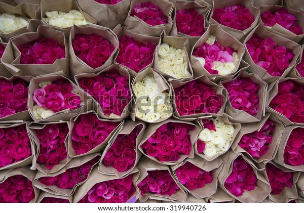rose bouquet in the market