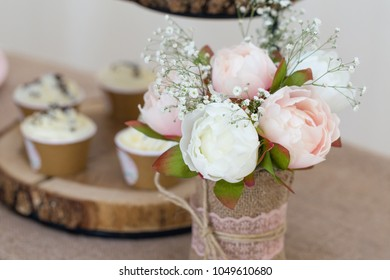 Rose bouquet on a party table
