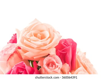 rose bouquet on white background