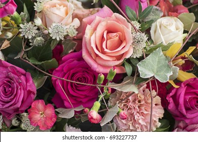 Rose bouquet in several colors