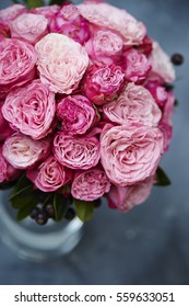 Rose bouquet in vase