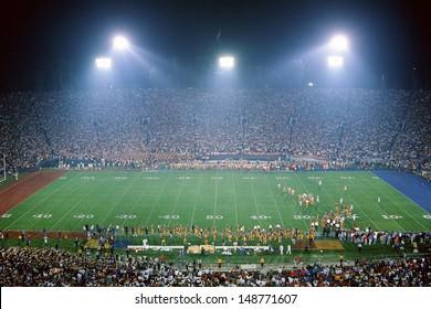 ROSE BOWL STADIUM, PASADENA, CA - CIRCA 1990's: Interior of football stadium in Pasadena, CA