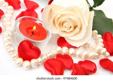 Rose and candle