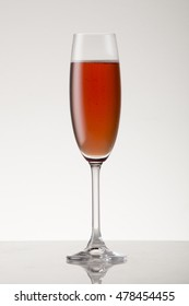 Rose champagne in a champagne flute