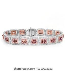 Rose diamonds bracelet