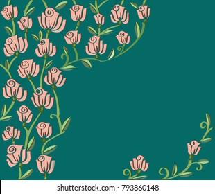 rose flower inspired invitation design