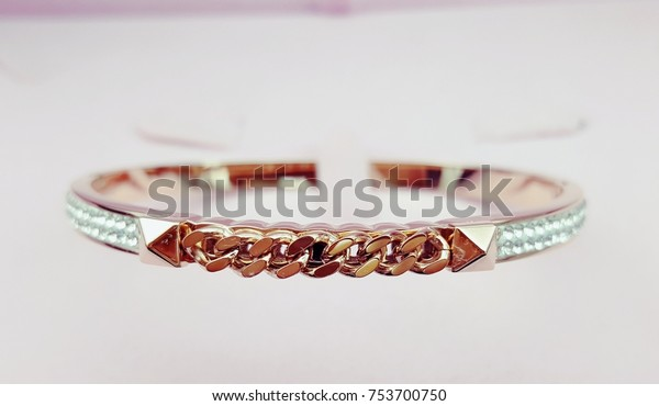 Rose Gold Bracelet Beautiful Design Jewelry Stock Photo Edit Now
