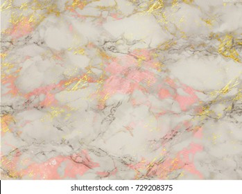 Rose and gold marble background. Shiny, glitter and glossy effect for an elegant and feminine wallpaper.