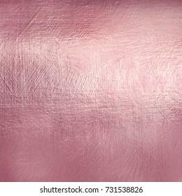 Rose gold metal texture. Luxure soft foil background.