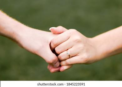Rose gold ring engagement photo