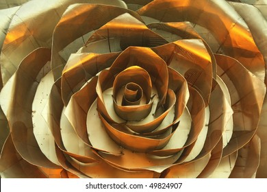 Rose, golden iron decor - ironic love