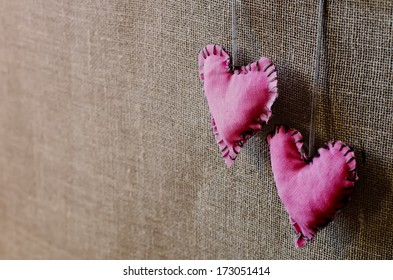 rose hearts on a wood background
