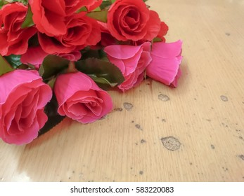 rose on table background