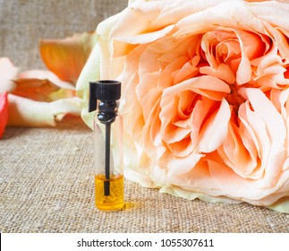 Rose perfumed oil. Natural cosmetics. Arabic perfume Attar.