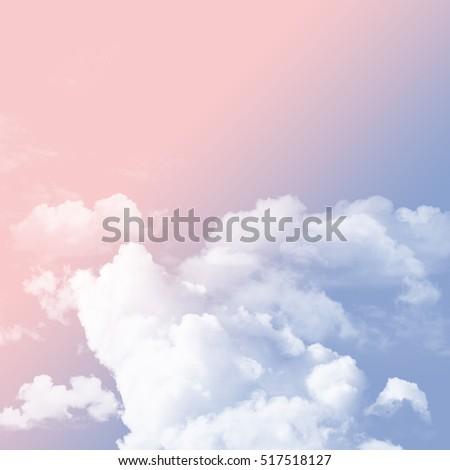 Rose Quartz Serenity Tone Sky Cloudy Stock Photo Edit Now