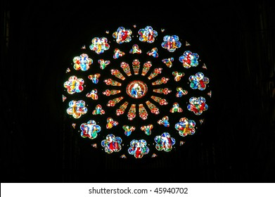 Rose window of Notre Dame. Paris