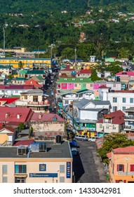 ROSEAU, DOMINICA - December 14, 2016: Dominica is an island country in the West Indies with a capital city of Roseau. Category 5 Hurricane Maria struck the island in 2017 causing devastating damage.