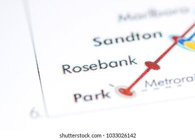 Rosebank Station. Johannesburg Metro map.
