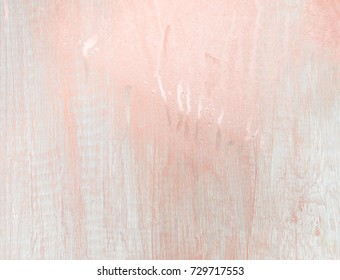 Rosegold wooden light grey background. Shiny, glitter and glossy effect for a delicate and feminine wallpaper.