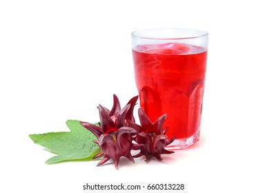Roselle or hibiscus juice with fresh roselle, a drink for good health