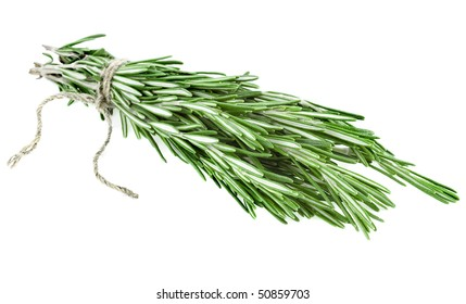 Rosemary branch corded a white background