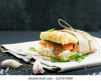 Rosemary Focaccia Bread Sandwich
