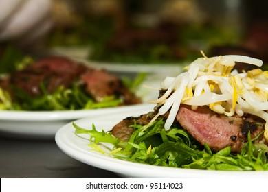 Rosemary Lamb Prepared For Catering Dinner