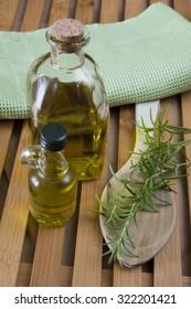 rosemary oil on wood