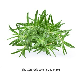 Rosemary, Pile of rosemary leaf  isolated on white background