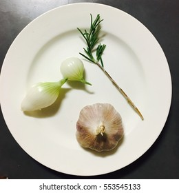 Rosemary,garlic and onion