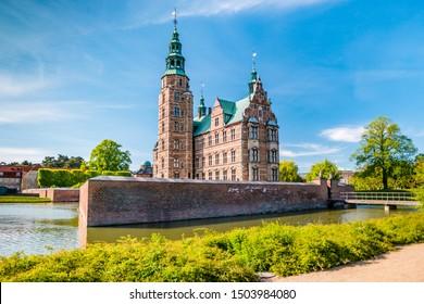 The Rosenborg Castle in Copenhagen, Denmark. Dutch Renaissance style.