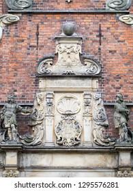 Rosenborg Castle detail, Copenhagen  Rosenborg Castle is a renaissance castle located in Copenhagen, Denmark. The castle was originally built as a country summerhouse in 1606.