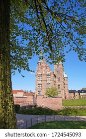 The Rosenborg Castle in the Dutch Renaissance style, located in Kings Garden which was built by Christian IV, in the early 17th century, Copenhagen, Denmark.