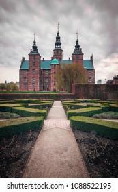 Rosenborg castle and gardens in Copenhagen, Denmark