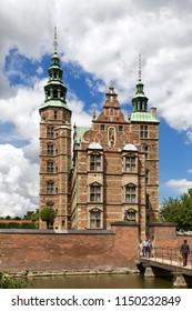 Rosenborg Castle (Rosenborg Slot), Copenhagen, Denmark - 23 Jun 2018: It was built in the Flemish Renaissance style.