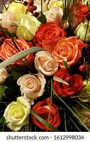 Roses -  background(Bukiet róż - tło, wzór)