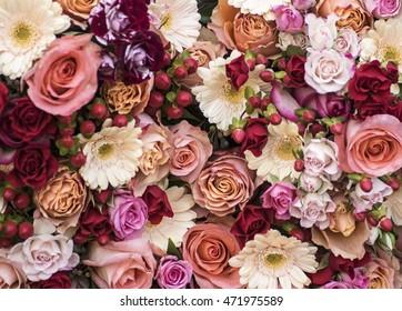 Roses, gerbera and berries