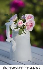Roses in a mug