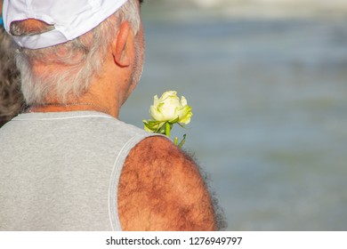 roses offered for iemanja, in Copacabana in Rio de Janeiro Brazil.