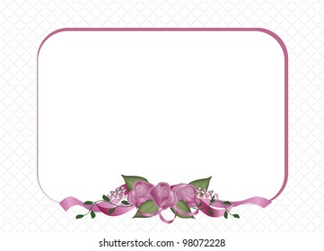Roses and Ribbons Special Occasion announcement or invitation.