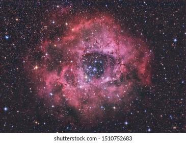 The Rosette Nebula in the constellation Monoceros.