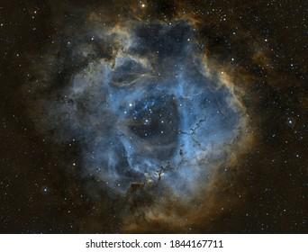 rosette nebula deep stars colors milky way