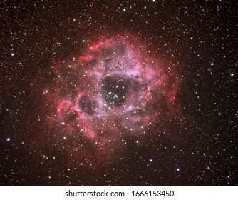 Rosette nebula shot with full frame and 600mm focal length