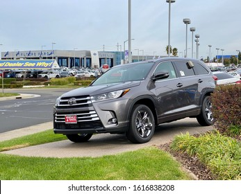 Roseville, CA - January 15, 2020: 2020 edition of Toyota Rav4 parked in front of a dealership.