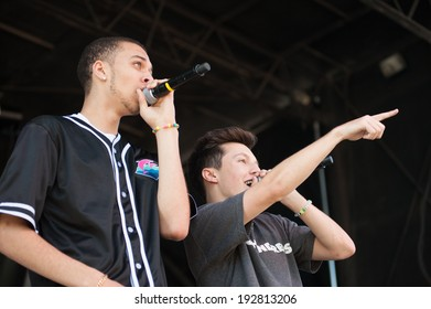 ROSEVILLE, CA - May 11: Kalin White (L) and Myles Parrish of Kalin and Myles performs in support of 107.9's EndFest  at Placer County Fairgrounds in Roseville, California on May 11, 2014