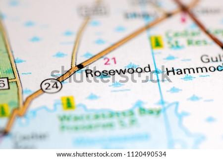 Rosewood Florida Usa On Map Stock Photo Edit Now 1120490534