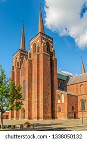 Roskilde Cathedral of the Lutheran Church of Denmark. Roskilde. Zealand Island. Denmark